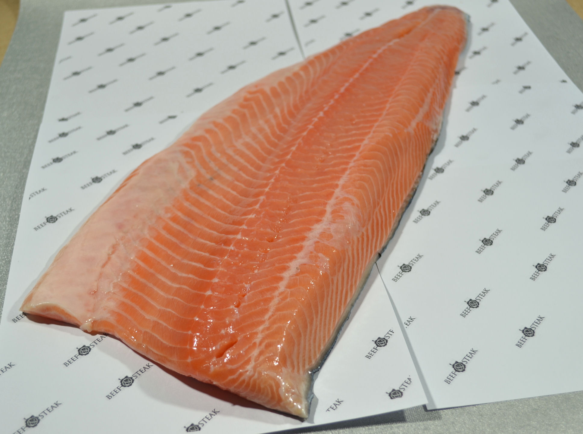 Salmon fillet with skin
