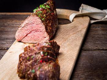 Biefstuk in zoetzure saus