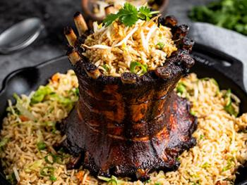 Baby Back Crown Sparerib met gebakken rijst