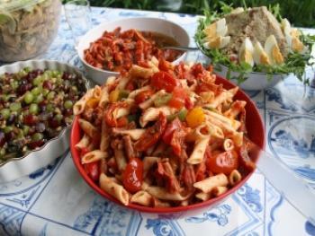 Pasta salade met Gildehoen