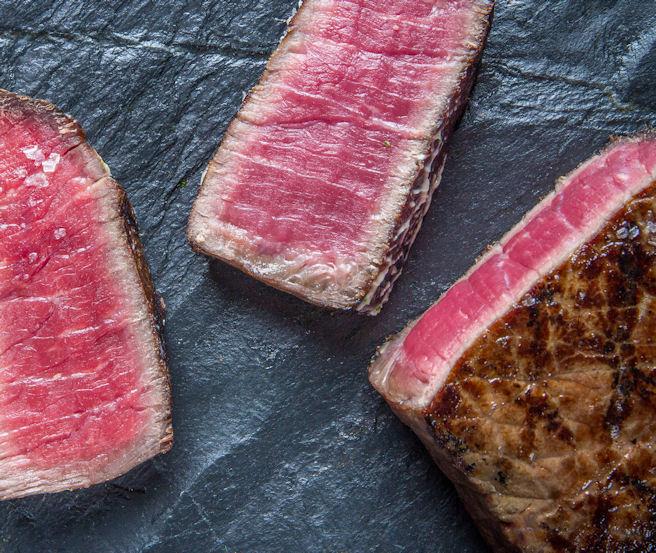 Biefstuk met champignons uien en donkerbier saus