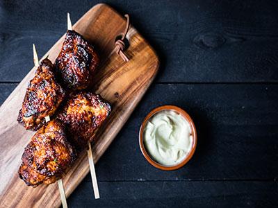 Gemarineerde Kippendij met BBQ saus