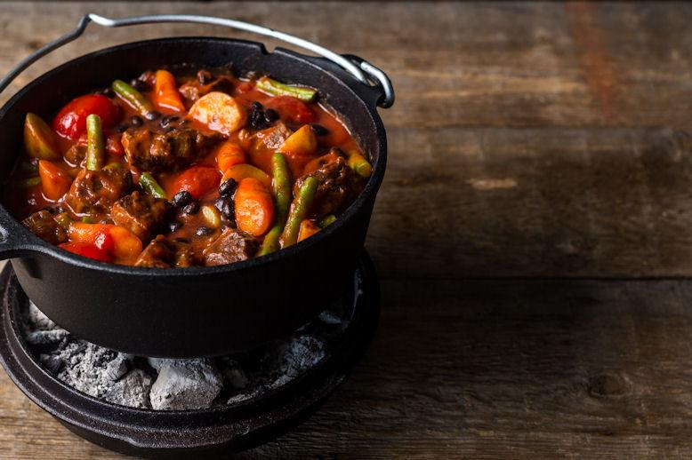 Pot-Roast met duif in rode wijn